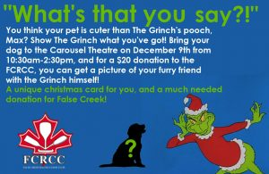 FCRCC Fundraiser - Grinch Photos - bring your pet, bring your team mates